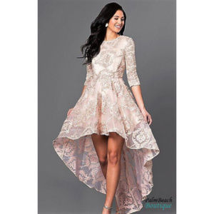a90f8b1abe ... HIGH-LOW LACE PARTY DRESS